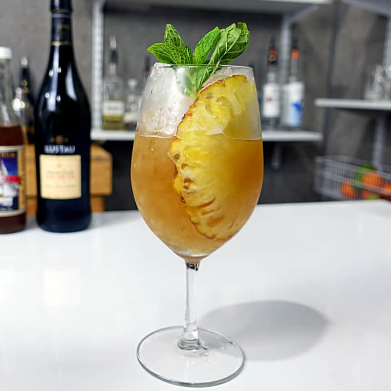 Pineapple Sherry Cobbler