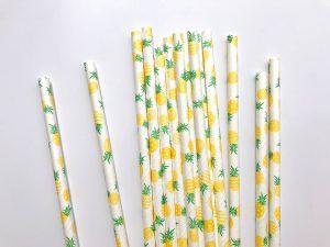 Yellow Pineapple Straws
