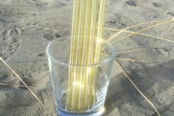 Yellow Glass Straws