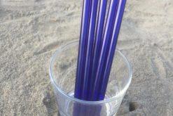 Blue Glass Straws