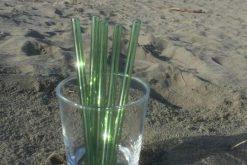 Green Glass Straws